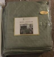 Historic Charleston Foundation King Charles Matelasse Sage Queen Bedspread NWT