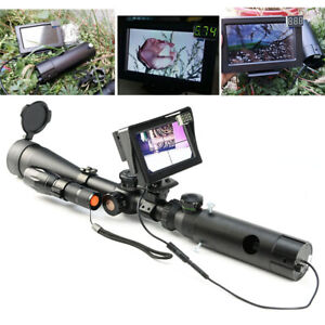 Night Vision Scope Digital Camera for Rifle Scope Hunting Device w/ LCD Display