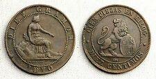 GOBIERNO PROVISIONAL 10 CENTIMOS 1870. BARCELONA. POCO DESGASTE PARA ESTAS PIEZA