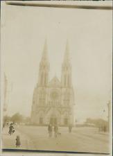 France, Châteauroux (Indre), Eglise St André  Vintage citrate print.  Tirage c