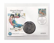 BRD Numisbrief/Medaille Olympische Winterspiele Albertville 1992  Nr.4/48/14/658