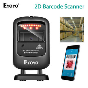 Eyoyo 1D 2D Desktop Barcode Scanner Super Decoding Capability for Store Library