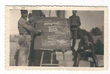 16/716  FOTO  - SOLDATEN SPEISEPLAN - RÜCKSEITIG ORTSANGABE