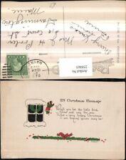 258865,Weihnachten Fenster Kranz Stechpalmen Schleife Text Spruch