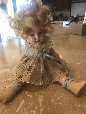 "16"" Shirley Temple Composition Doll from the 1930s"