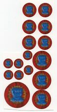 Battletech 1/60th scale Clan and IS Insignia decals-House Steiner/ Federated Com