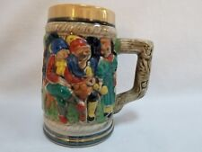 Vintage Multi Color Japan Lusterware German Style Ceramic Beer Stein Mug Tankard