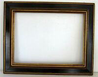 ART DECO GILDED / BLACK WOOD FRAME FOR PAINTING, PRINT 16 X 12  INCH (d-9)