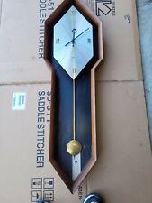 VINTAGE ARTHUR UMANOFF HOWARD & MILLER PENDULUM WALL CLOCK WITH KEY/ WALL CLOCK