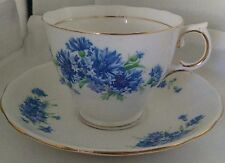 Colclough Blue Cornflowers Cup & Saucer Vintage English Bone China