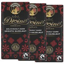 Divine chocolat foncé avec noisettes (3 Pack ou Multi-Achat) 90 g Chaque
