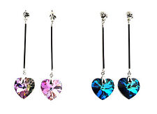 Genuine Heart Shaped Crystal Earrings with a Swarovski Element