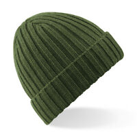 Beechfield Chunky Ribbed Beanie Adults Unisex Winters Warm Fashion Wear Hats New
