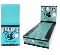 Bugler Single Wide Blue - Box 25 PACKS - Turkish Roll Papers Cigarette 50 Leaves