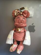 NWT Disney Coach F30955 Pink Minnie Mouse Doll FOB key chain Handbag Charm