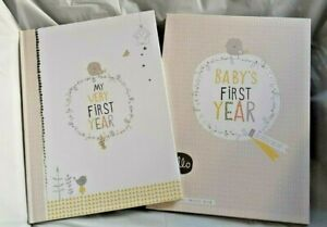 BABY'S FIRST RECORD BOOK - MY VERY FIRST YEAR KEEPSAKE MEMORY BOOK