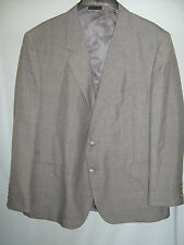Men's Gray Pinstripe Woodmere Suit Jacket 44S Poly-Wool Blend Lined #CL126