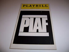 1981 PLYMOUTH THEATRE PLAYBILL - PIAF - JANE LAPOTAIRE ZOE WANAMAKER ARLT AYR