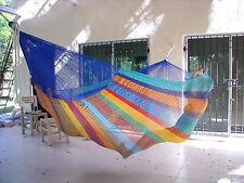 Original Mexikanische Hängematte Hängematten Netz Mexi 5 Familie regenbogen