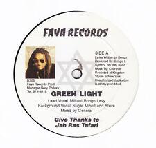 "MILITANT BONGO LEVY- GREEN LIGHT - FAYA - ONE AWAY DIGI ROOTS REGGAE 12"""