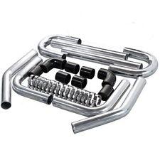 "Universal Black 2.25"" Polished Aluminum Turbo Intercooler Piping Kit S13 S14 S15"