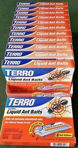 Lot Of 12 TERRO Indoor Outdoor LIQUID ANT KILLER - 72 Total Bait Tray Traps T300