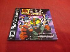 Micro Maniacs Racing Playstation 1 PS1 Instruction Manual Booklet ONLY