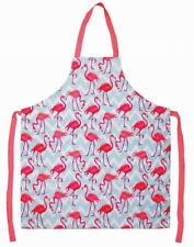 Leonardo Collection Flamingo Bay Pink Washable Kitchen Apron 100% Cotton