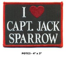 PIRATES OF THE CARRIBEAN PATCH - I LOVE JACK SPARROW - POTC3