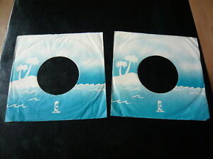 "2 x ISLAND RECORDS...UK ORIGINAL COMPANY 7"" SINGLE RECORD SLEEVES"