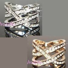 Copper Round White Gold Filled Costume Rings