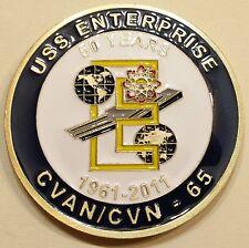 USS Enterprise (CVN-65) Association 50 Years 1961-2011 Navy Challenge Coin