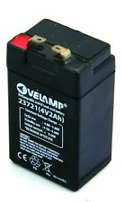 Batteria ricaricabile al piombo 4V 2Ah. Attacchi FASTON