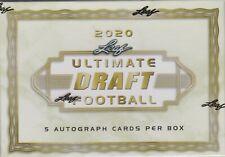 2020 Leaf Ultimate Draft Football sealed box 5 autographs