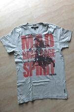 Tolles graues Herren-Shirt, Gr. M von Blend mit roter Schrift