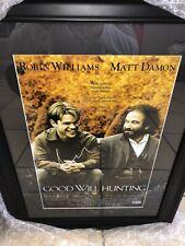 Robin Williams Matt Damon Good Will Hunting Signed Autograph Beckett Bas 25x19