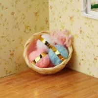 Dollhouse Miniature 1:12 Knitting Woolen Threads Needles Basket Set SALE Hot