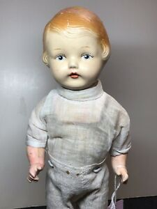 """15"""" Antique Unmarked Campbell Kid Look A Like All Compo Jointed Body As Is #Me"""