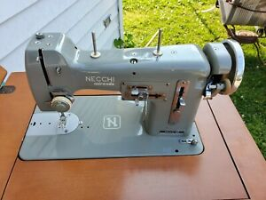 Rare Vintage Necchi BU Miranda Sewing Machine W/ Pedal Tested Works NEEDS BELT