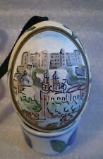 Vintage Hand-Painted Real Egg FORTRESS HOHENSALZBURG from Salzburg Austria