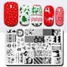 NICOLE DIARY Weihnachten Ahorn Blatt Nagel Stamping Platten Metall Schablone