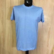 Vtg Screen Stars T-Shirt Deadstock Blank Plain Xl Soft Thin Lt Blue Usa