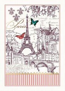 """Michel Design Works, """"Toujours Paris"""", Pure cotton printed tea towel."""