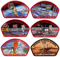 Central Florida Council 50 Years of Space Flight CSP Uniform Patch Badge Set Lot