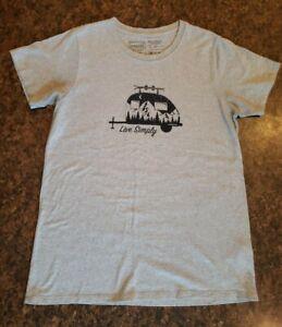 "Patagonia ""Live Simply"" T-Shirt Size Woman's Medium Short Sleeve Gray"