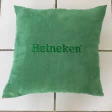 "NWOT Heineken Logo, Light Green, Faux Suede Decorative Pillow Cushion 16""x16"""