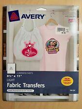 2 packs Avery Printable T-Shirt Transfer Use on Light Fabrics 12 PaperTransfers