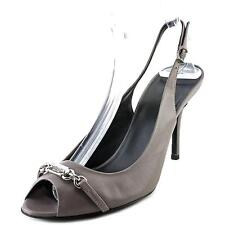 Gucci Nameplate Slingbacks Shoes HEELS Lilac Leather 39 9