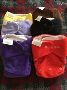 6x Bambooty basics cloth nappy, shell and insert (very good condition)