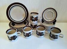 Set of 6 / RUIJA Cups + Saucers + dessert plates ARABIA OF FINLAND Ulla Procopé
